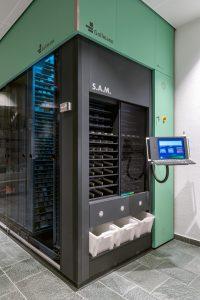 Gollmann Kommissionierautomat Rosen-Apotheke Hürth